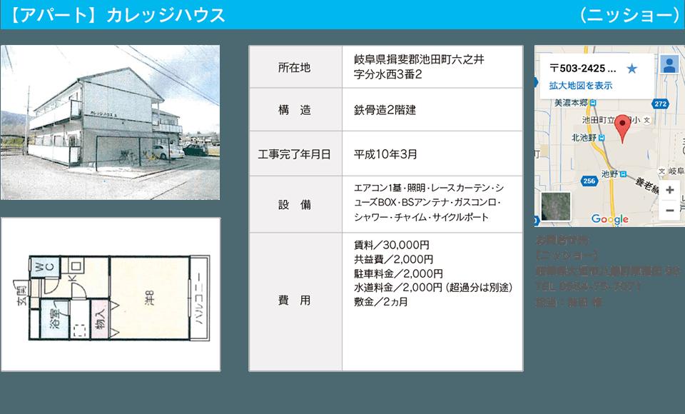 【アパート】カレッジハウス